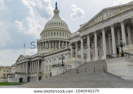 The steps of the East Front of the US Capitol Building #1040940379