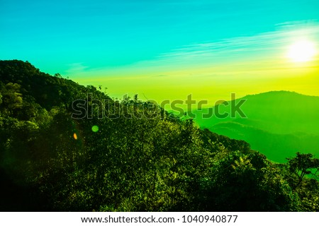 Sunrise at Mon Sone view point, Thailand. #1040940877