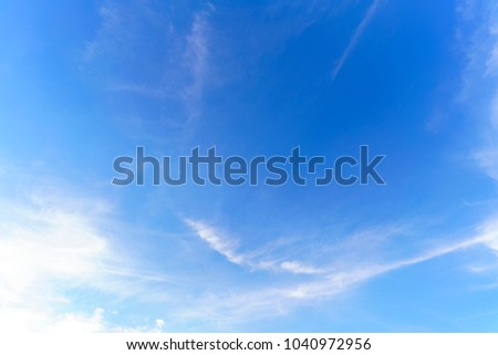 Beautiful white clouds and blue sky background #1040972956