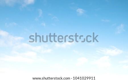 blue sky clouds #1041029911