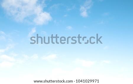 blue sky clouds #1041029971