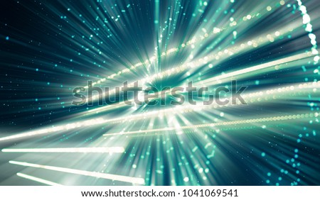 abstract blue background. fractal explosion star with gloss and lines. illustration beautiful. #1041069541
