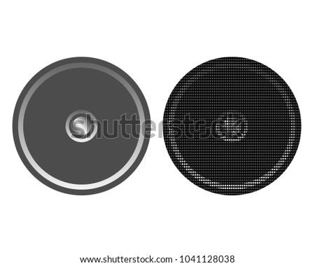 Round music loudspeakers column #1041128038
