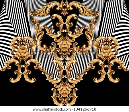 golden baroque ornament #1041256918