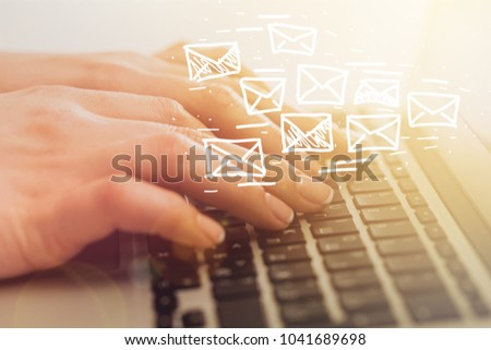 Email marketing and newsletter concept #1041689698