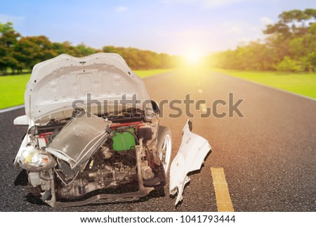 Car accident on the road #1041793444
