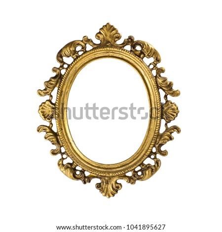 picture frame, old bronze