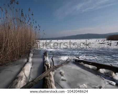 On the waterside of Lake Biel / Lac de Bienne, canton Bern, Switzerland. #1042048624