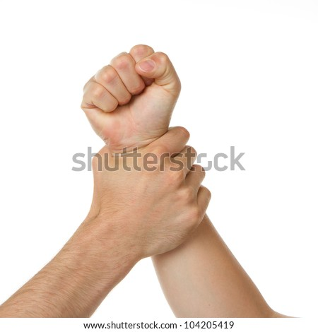 Man holding a woman by the wrist #104205419