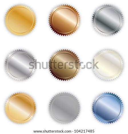 Various Metallic Colored Vector Buttons