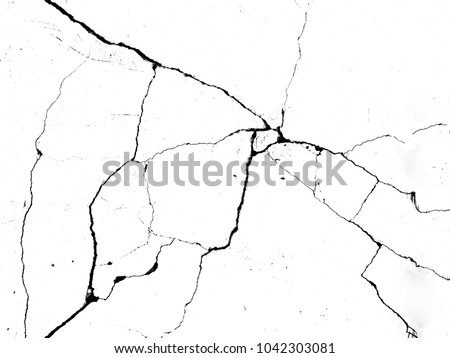 White black grey concrete wall, floor with cracks, texture background Royalty-Free Stock Photo #1042303081