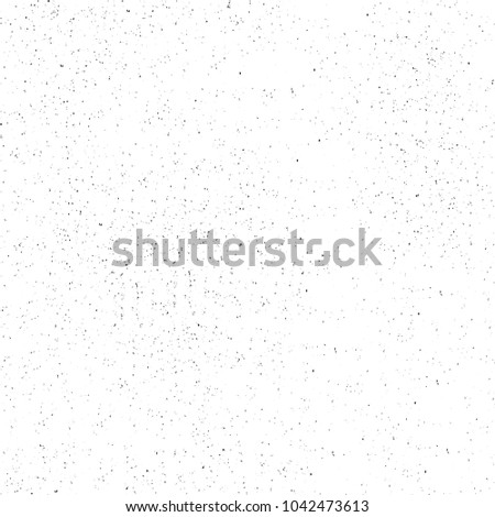 Black and white abstract background. Monochrome texture of dots, cracks, dust, stain. Pattern for printing and design #1042473613