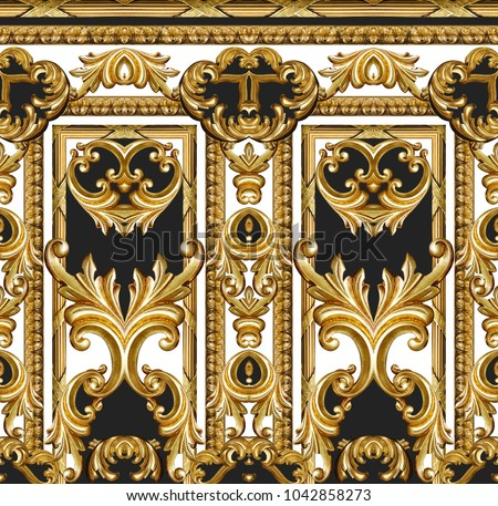 golden baroque ornament #1042858273