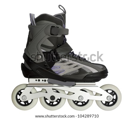 Inline skate isolated on white #104289710