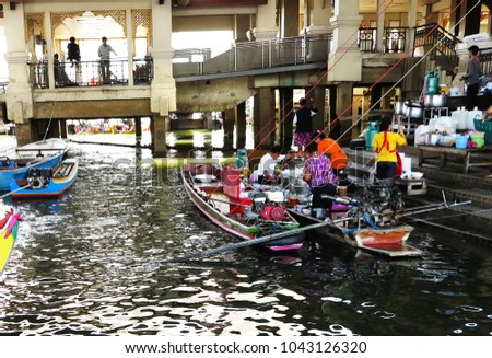 On April 22,2017,we went to have the noodle soup for lunch from the most popular noodle boats at Chao Phraya river bank,Nontaburi,Thailand.It is very delicious and tasty. #1043126320