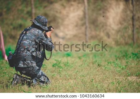 Army Training .Soldiers are doing missions #1043160634