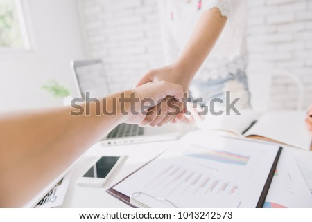 Business People Hand Shake in business meeting #1043242573