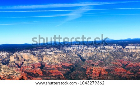 Aerial Images of the Red Rock Formations of Sedona Arizona #1043279362
