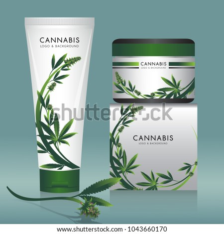 Cannabis marijuana Packaging product label and logo graphic template #1043660170