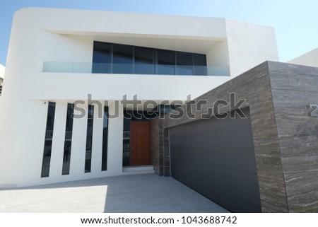 Dubai, Dubai/United Arab Emirates - 18 October, 2017; Palm Jumeirah Contemporary Villa in Dubai #1043688742