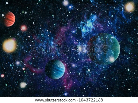 Bluebird Galaxy - Elements of this Image Furnished by NASA #1043722168
