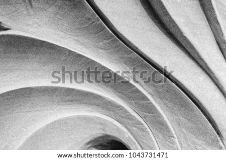 abstract striped of stone texture, curve sculpture Royalty-Free Stock Photo #1043731471