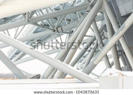Samara, Russia - February, 2018: football world cup 2018 stadium construction #1043870635