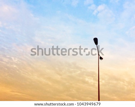 Evening sky Light Tower #1043949679