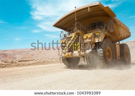Dump truck at a copper mine in Latin America #1043981089