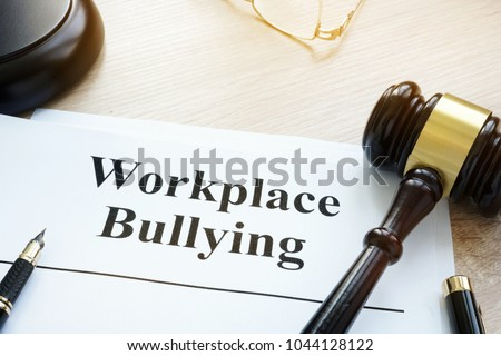 Documents about Workplace bullying in a court. #1044128122