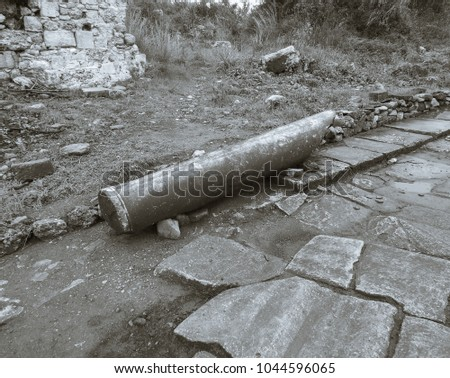 Mystic ancient city of Side in Turkey #1044596065