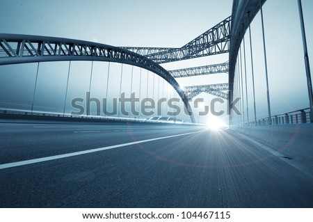 the night of modern bridge Royalty-Free Stock Photo #104467115