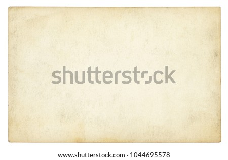 Vintage paper background isolated - (clipping path included) #1044695578