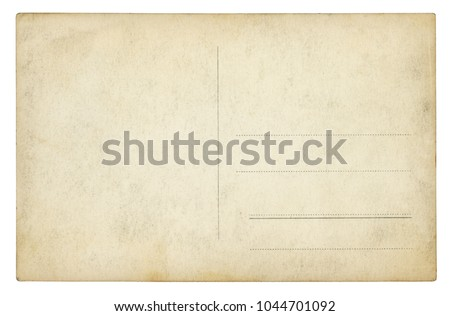 Vintage Postcard - isolated (clipping path included) Royalty-Free Stock Photo #1044701092