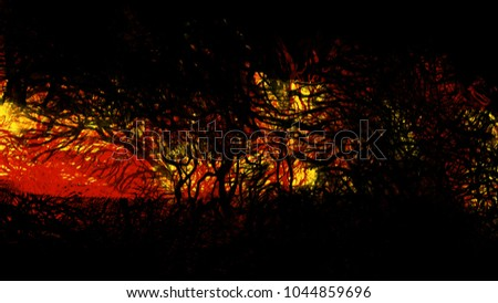Abstract texture forest nature tree landscape background #1044859696