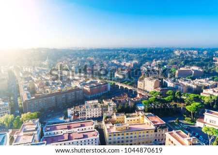 Top view of Rome, Italy #1044870619