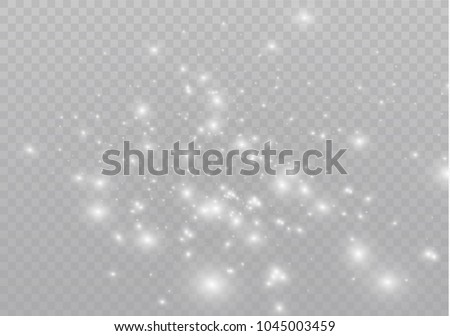 White sparks glitter special light effect. Vector sparkles on transparent background. Christmas abstract pattern. Sparkling magic dust particles #1045003459