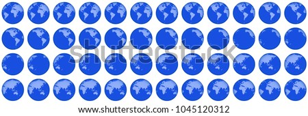 Globe rotation animation sprite sheet