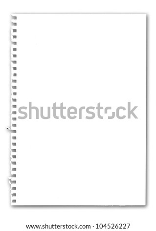 The paper on white background #104526227