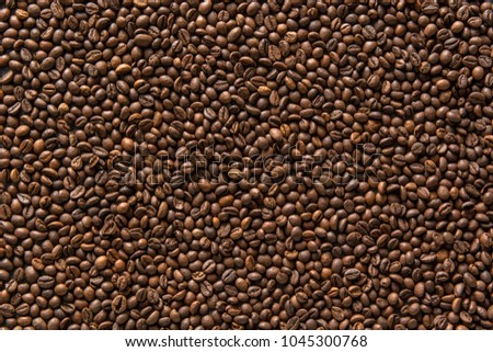 Coffee beans background #1045300768