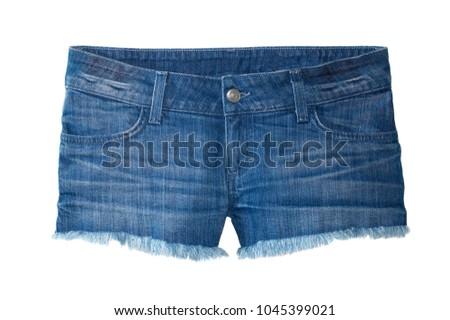 Denim Cut Fringe Shorts #1045399021