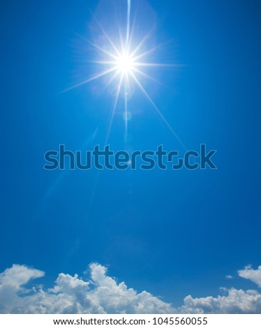 blue sky background with tiny clouds #1045560055