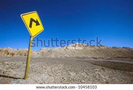Road sign at desert #10458103