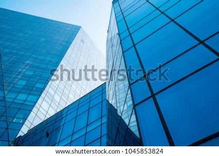 Urban modern architecture Royalty-Free Stock Photo #1045853824