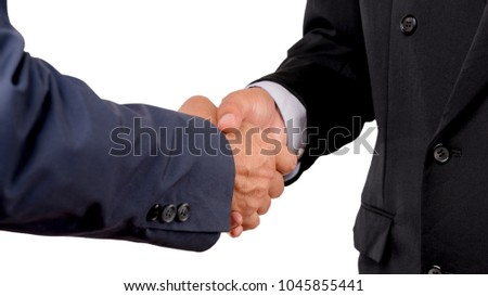 Businessman shaking hands.Business,meeting,negotiating,good deal,success,agreement concept.With clipping path. #1045855441