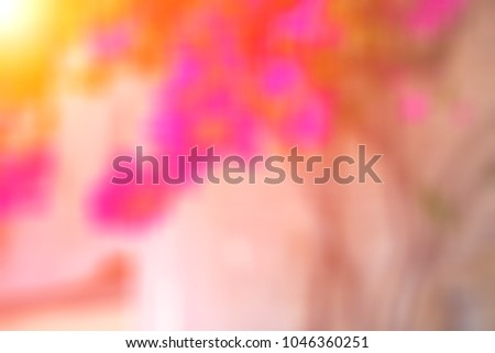 Beautiful blurred colored floral spring background #1046360251