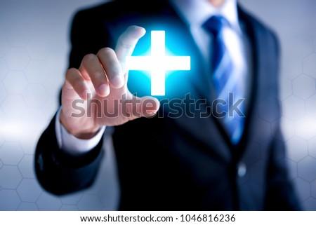 Business offer positive concept (like profit, benefits, personal development, success) #1046816236