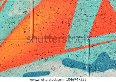 Abstract street art spray paint texture background.  Royalty-Free Stock Photo #1046947228