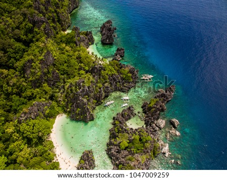Aerial view of El Nido in Philippines #1047009259