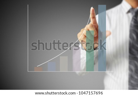 financial symbols coming from hand #1047157696